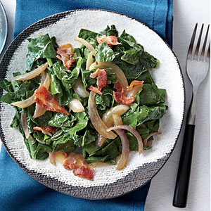 Wilted Kale with Bacon and Vinegar