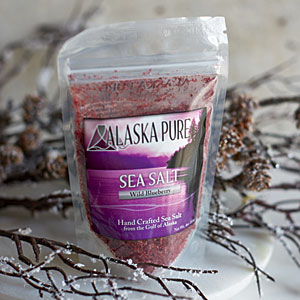 Alaska Pure Wild Blueberry Flake Salt