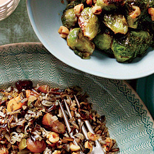 Serve with Roasted Brussels Sprouts and Wild Rice Dressing