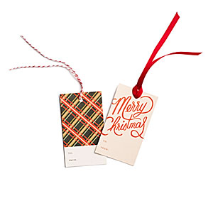Plaid & Merry Christmas Gift Tags