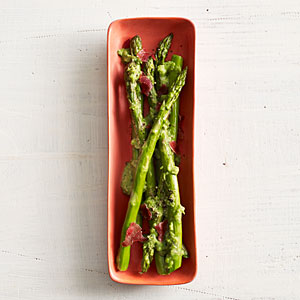 Asparagus with Peas and Prosciutto Recipe