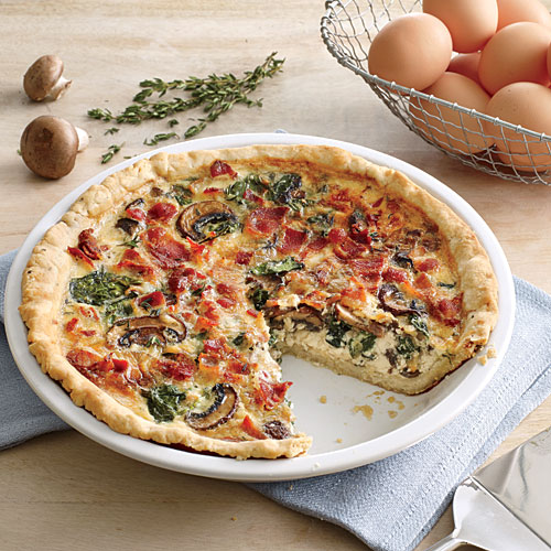 Recipe Makeover: Spinach-Bacon Quiche | Cooking Light