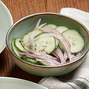 Shaved Cucumber and Red Onion Salad