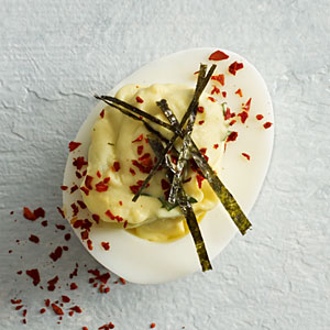 Wasabi-Ginger Deviled Eggs