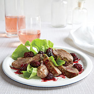 Duck Breasts with Blackberry-Port Sauce