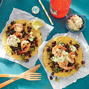 Grilled Shrimp Tostadas with Lime