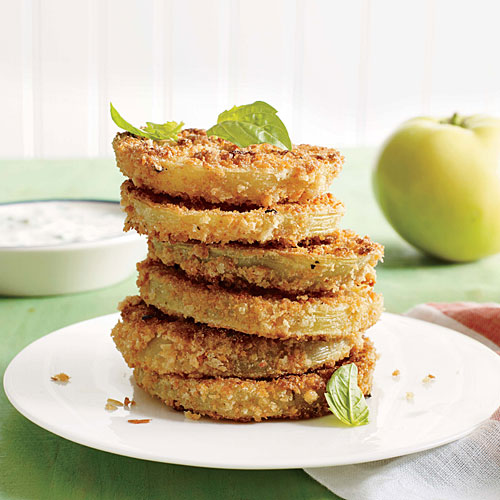 Lighter Fried Green Tomatoes Tip #3: A Drizzle of Dressing ...