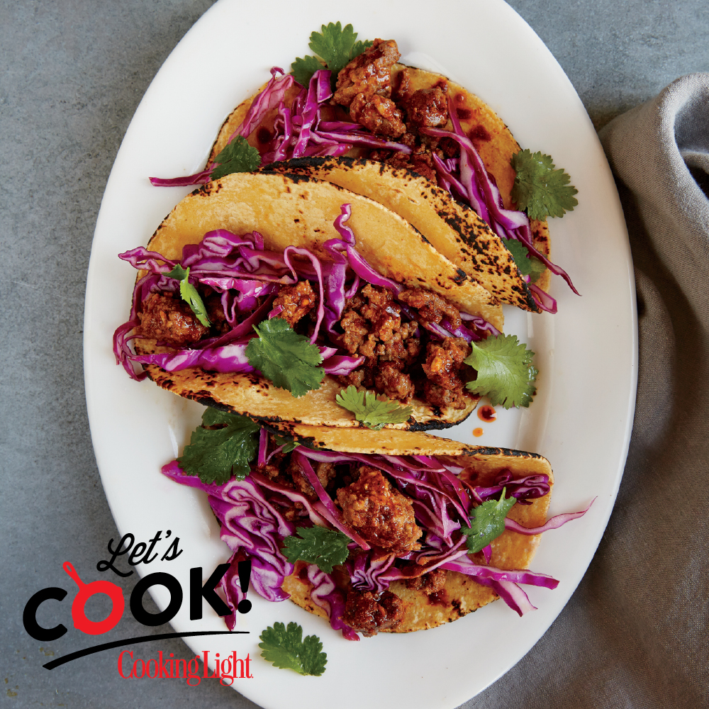 How to Make Beef Chorizo Tacos with Cabbage Slaw - Cooking Light