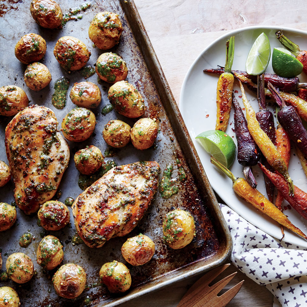 Paleo Sheet Pan Chicken With Roasted Baby Potatoes Recipe   Cooking Light Good Looking