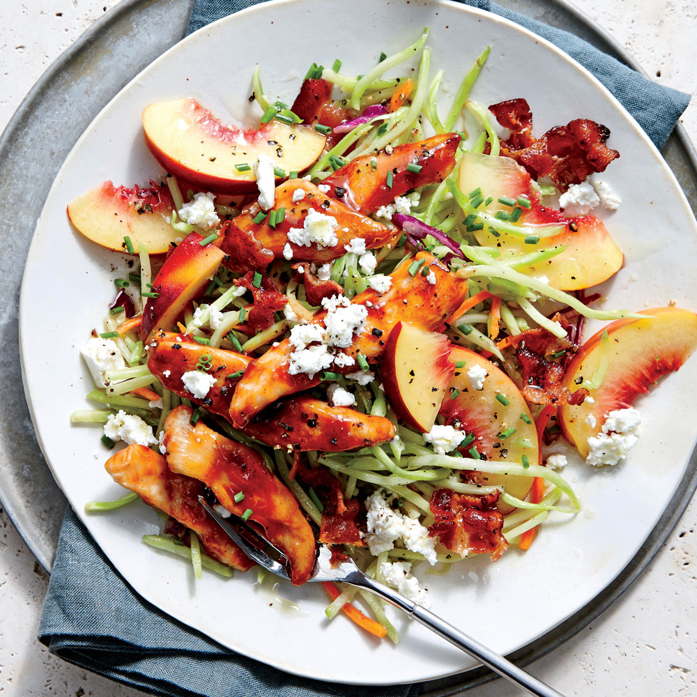 This summery crunch-tastic slaw is guaranteed to find its way into your recipe rotation for the rest of the season. Using ripe, juicy peaches, it's the perfect sweet-salty side dish for any number of grilled or smoked proteins.