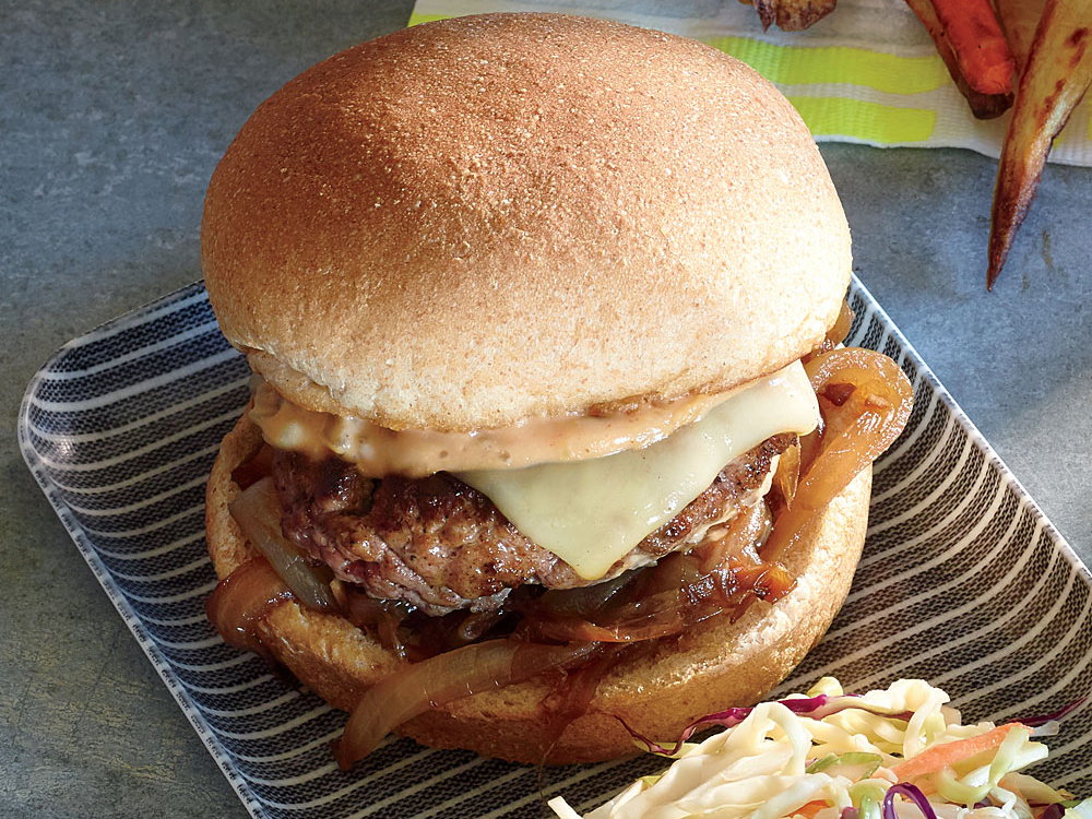 Caramelized Onion Burger
