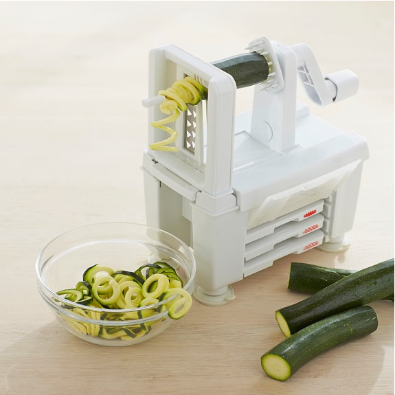 how to use paderno 4 blade spiralizer