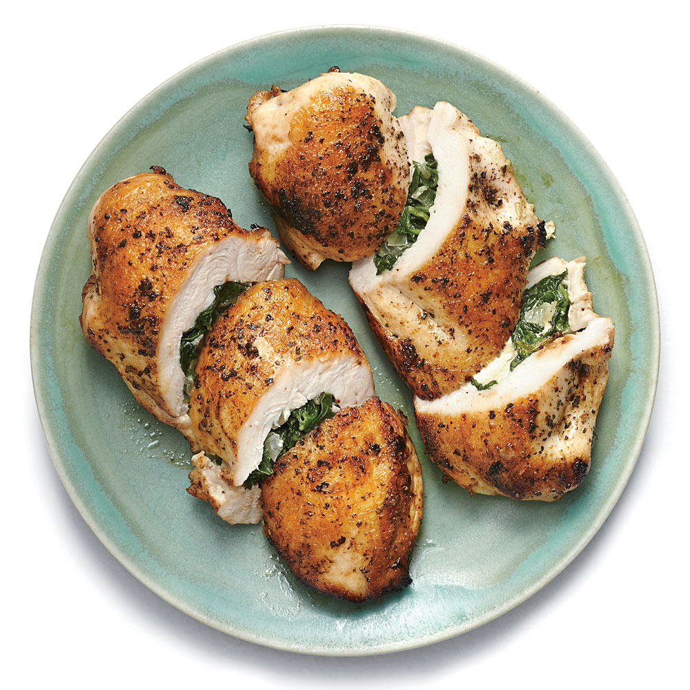 Spinach And Feta Stuffed Chicken Breasts Recipe