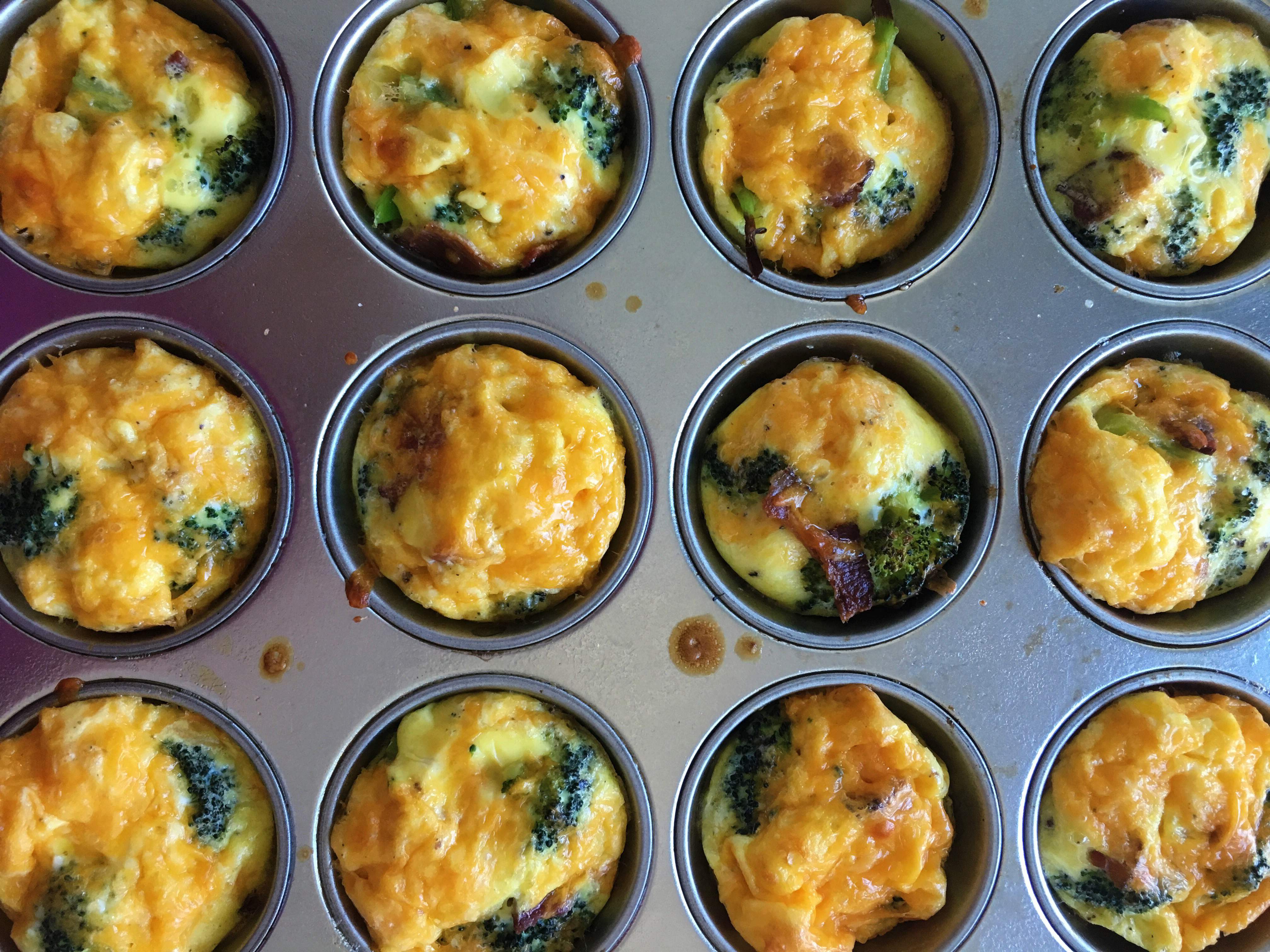 Broccoli And Bacon Muffin Tin Frittatas Recipe Cooking Light