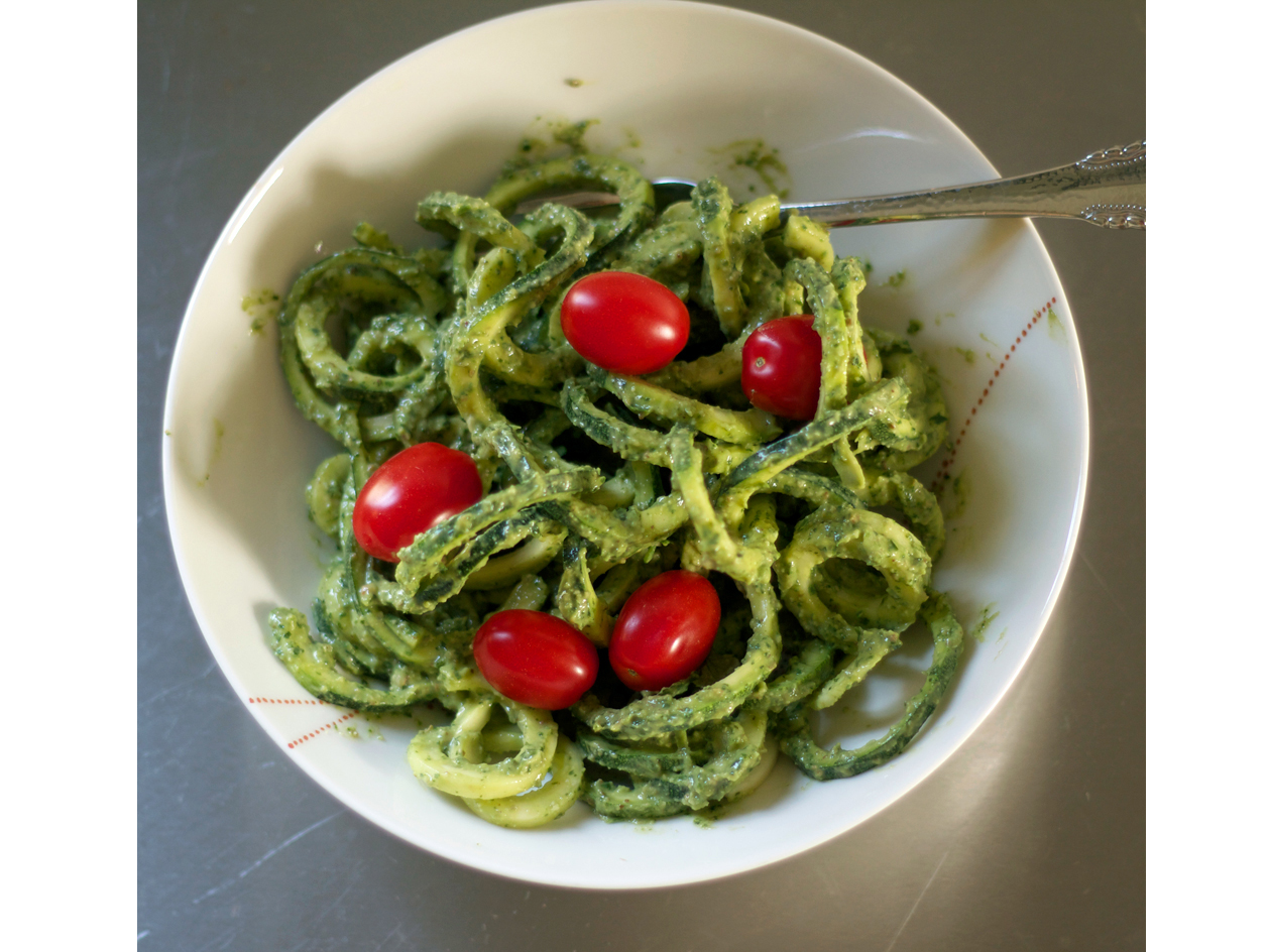 Zucchini Noodles with Creamy Avocado Sauce Recipe - Cooking Light