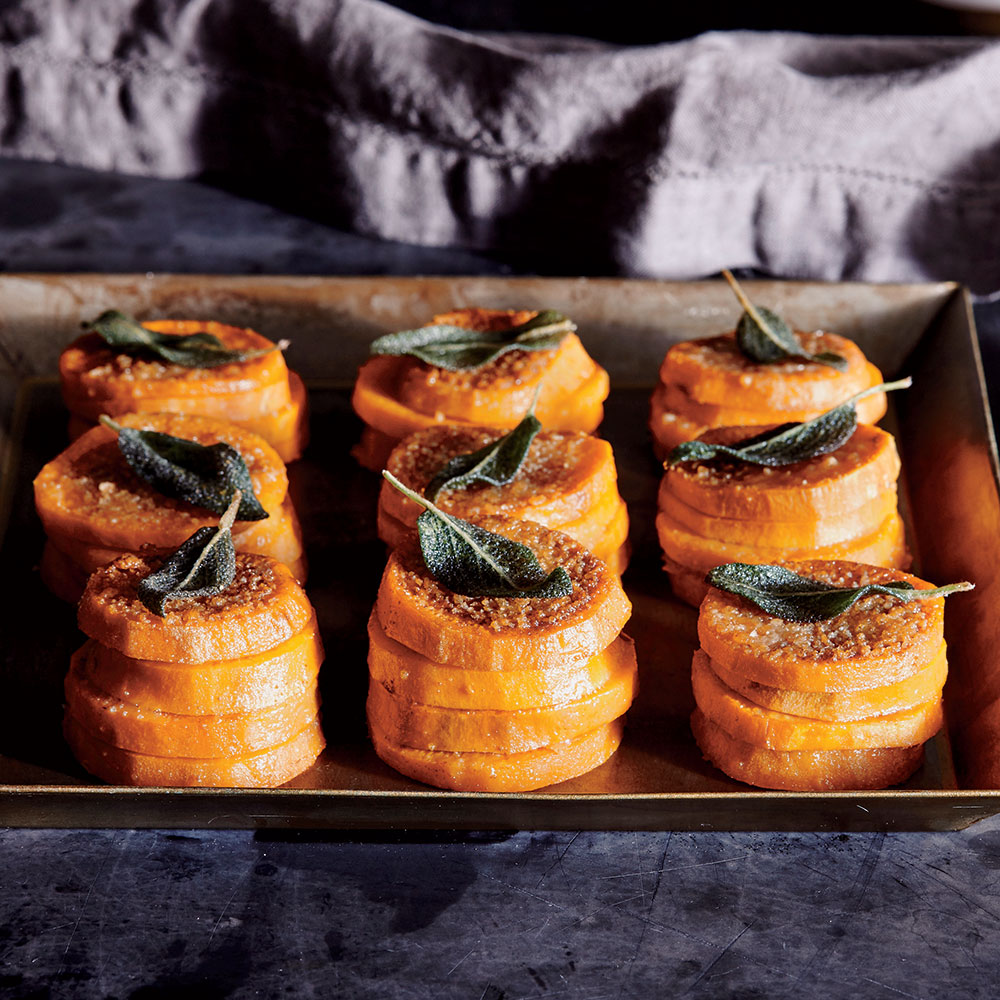potato stacks see more 1 sweet potato stacks with crispy sage leaves ...