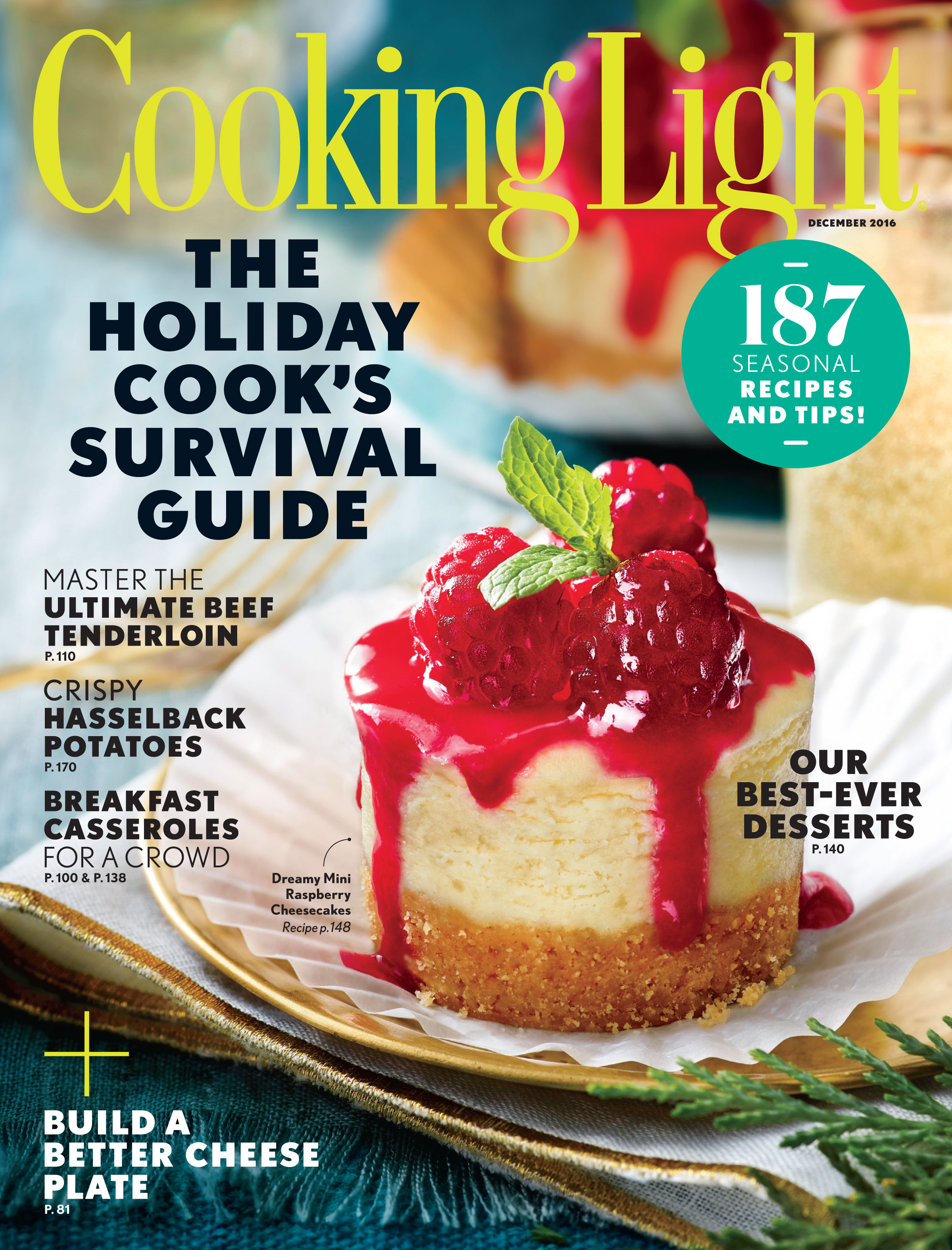 december 2016 magazine features - cooking light
