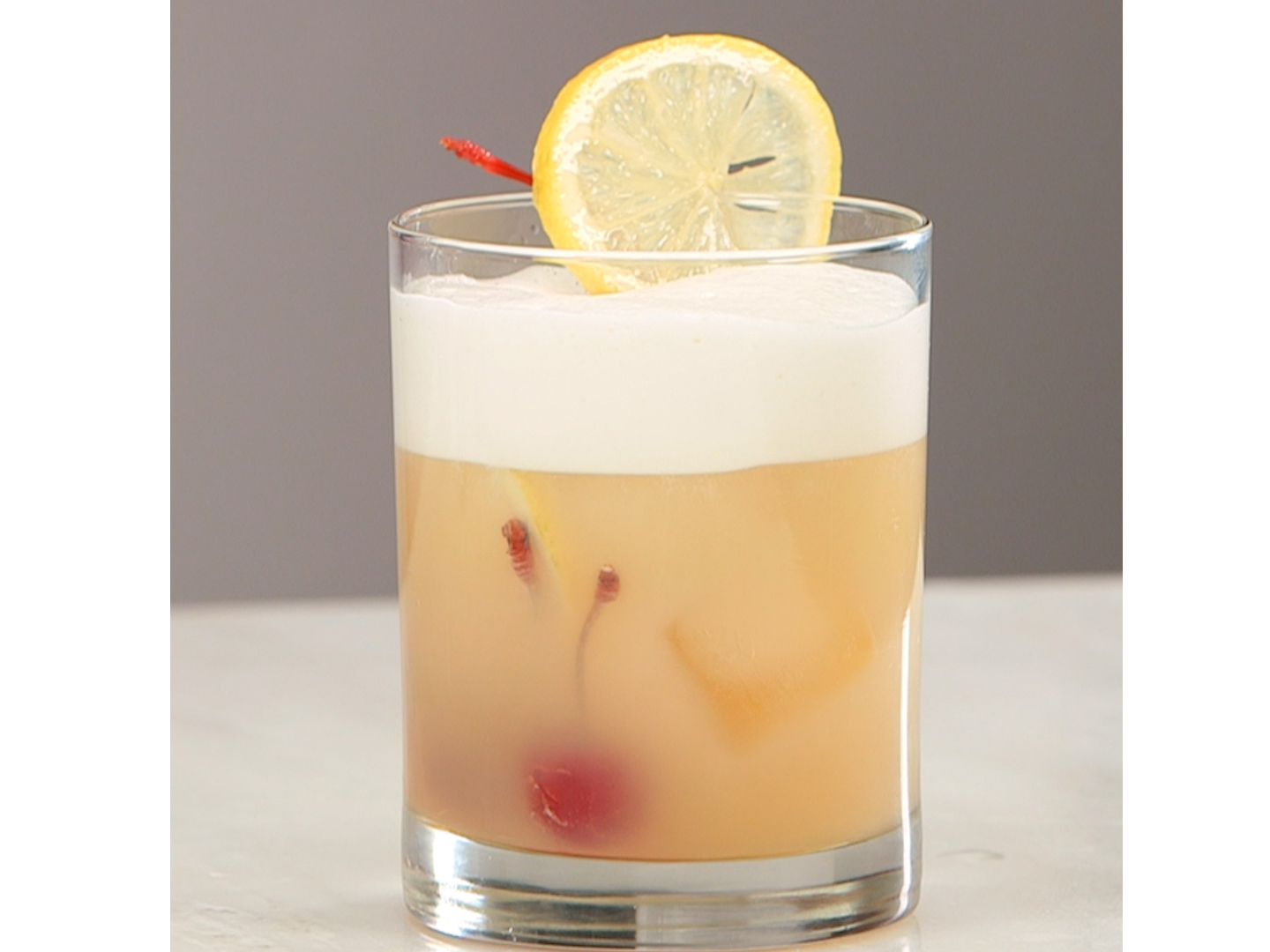Aquafaba Whiskey Sour