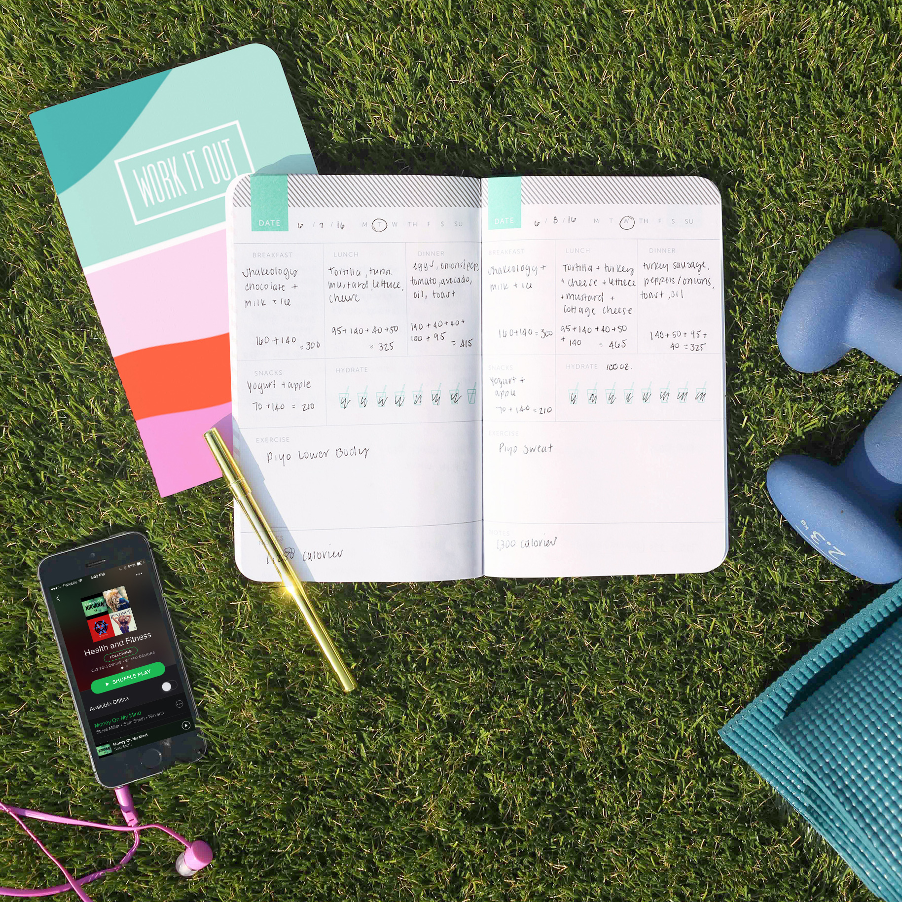 May Designs Health + Fitness Journals