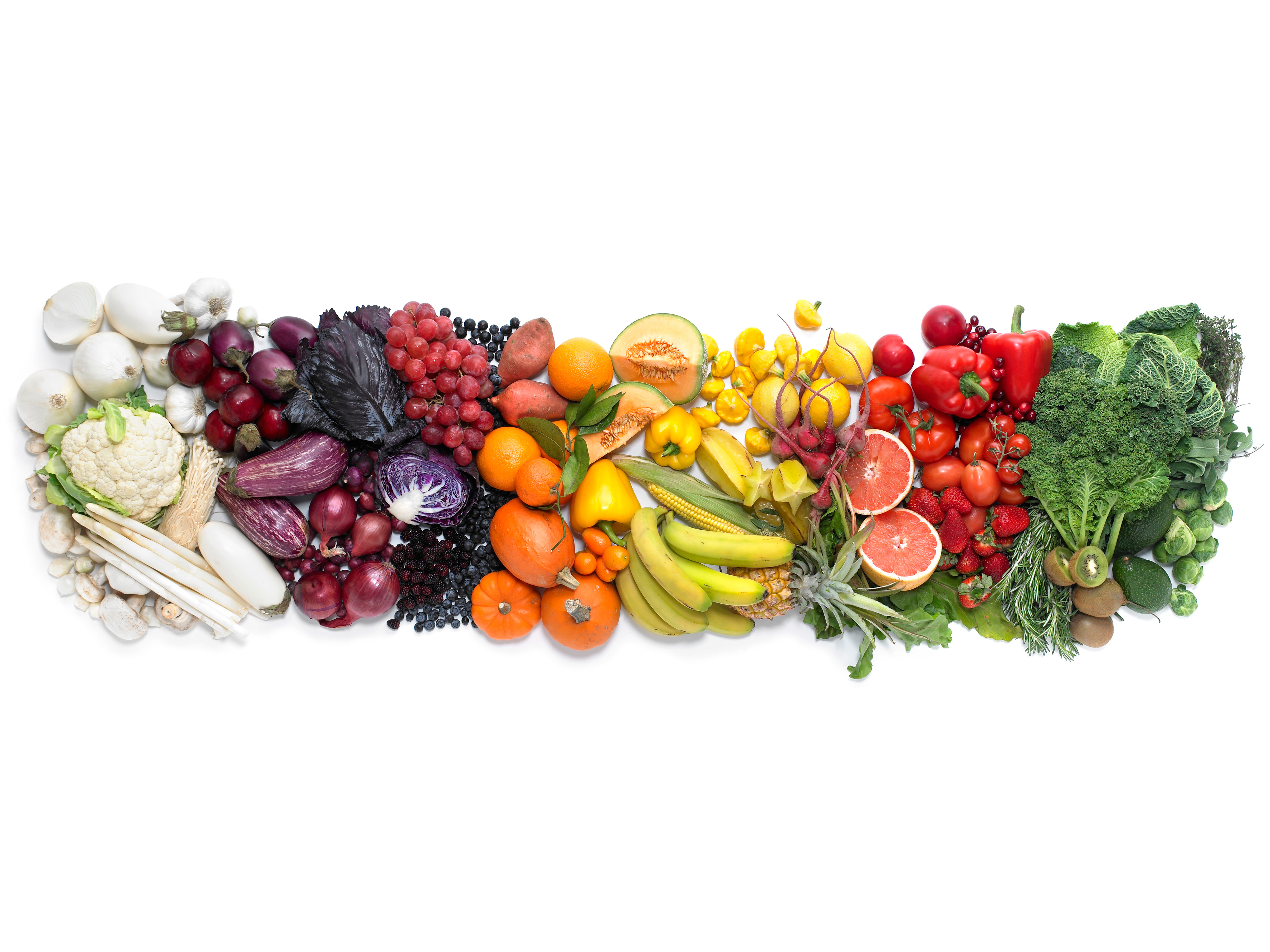 Colorful Diet Fruits and Vegetables