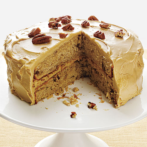 Pecan Spice Cake with Maple Frosting Recipes