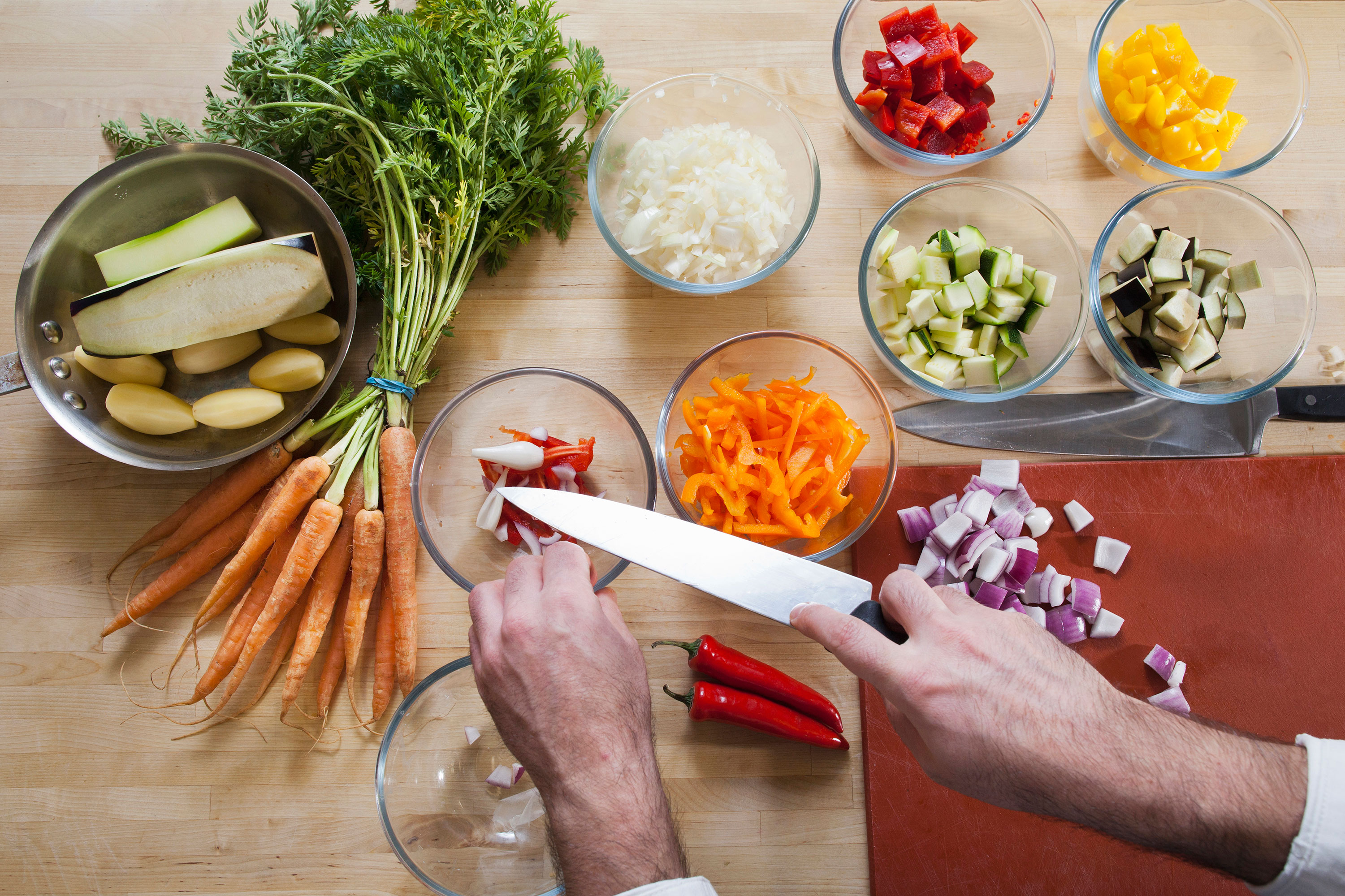 Prepped Chopped Vegetables