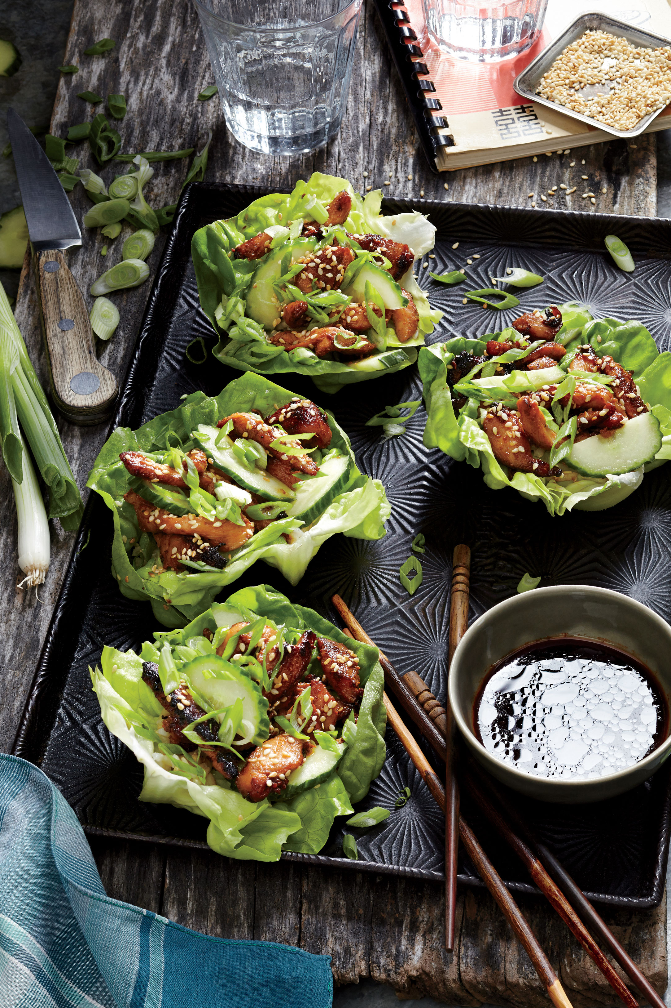 Korean chicken lettuce wraps recipe cooking light forumfinder Image collections