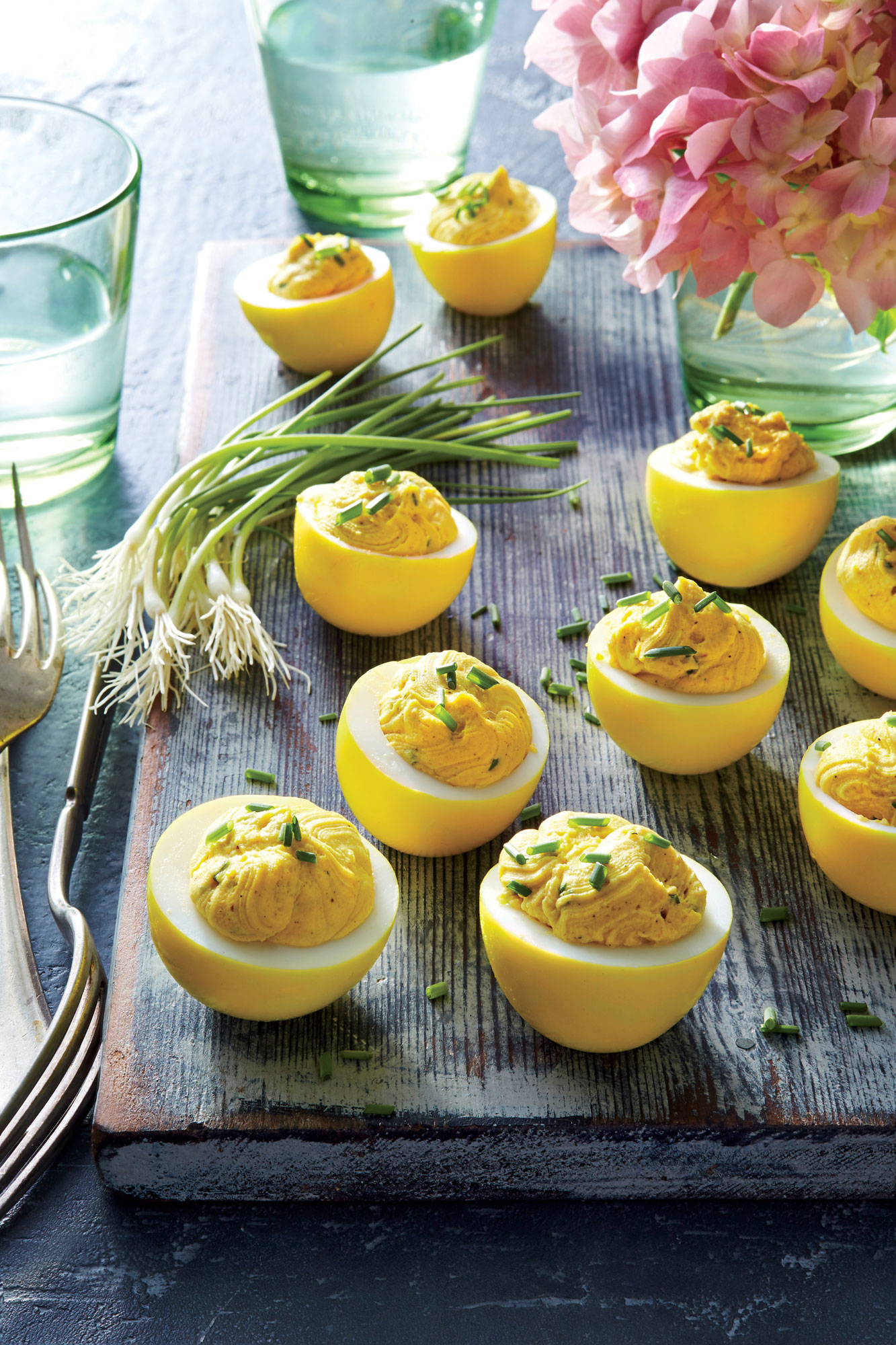 Turmeric-Pickled Deviled Eggs Recipe - Cooking Light