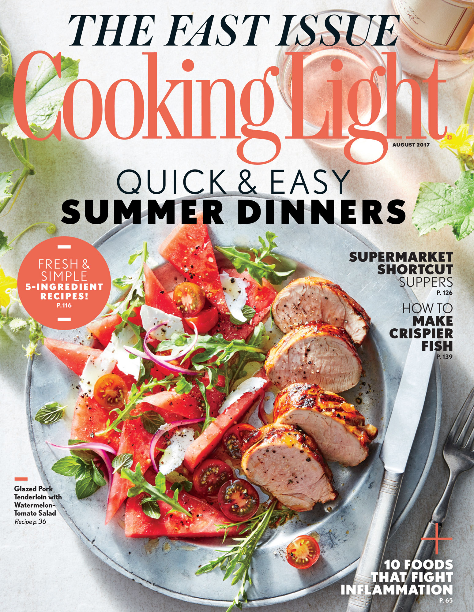 august 2017 magazine features - cooking light