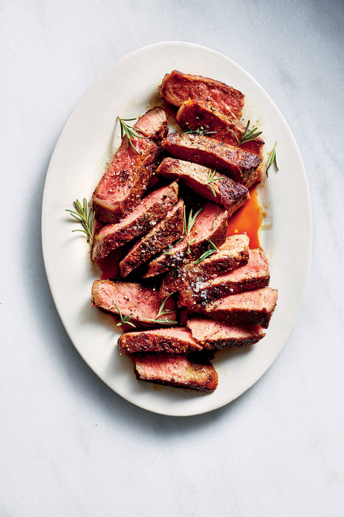 Garlicky New York Strip Steak