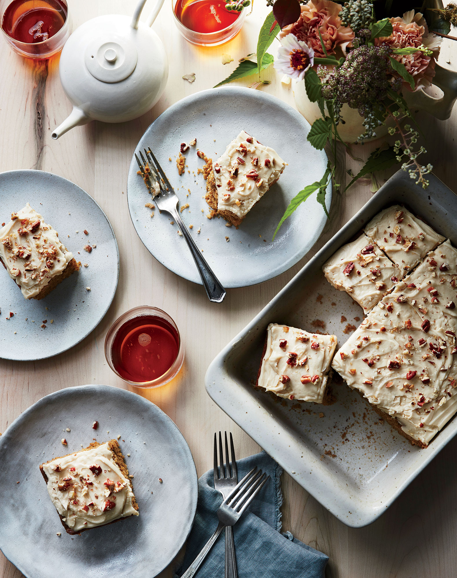 Parsnip Spice Cake with Caramel Icing