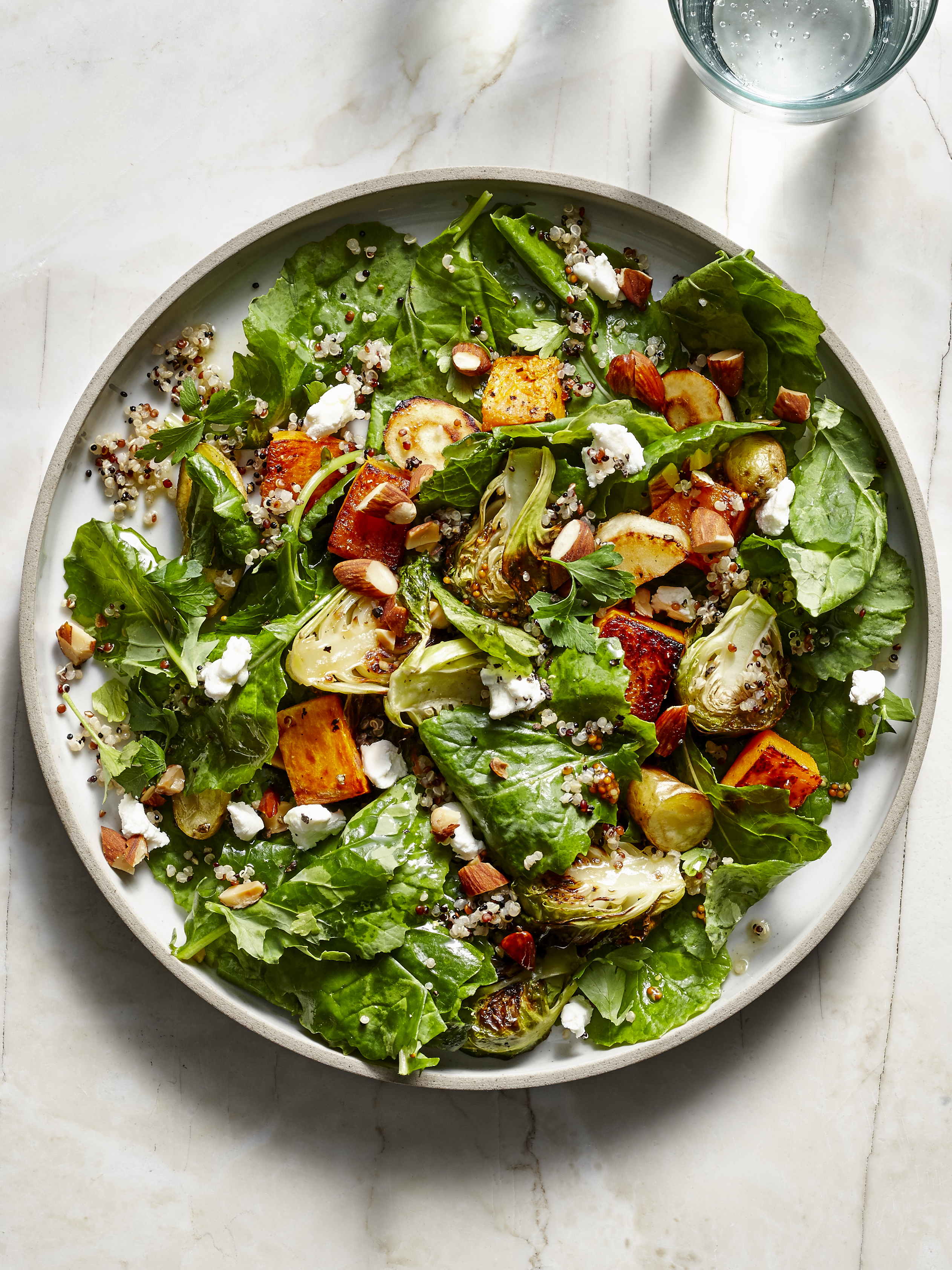 Baby Kale, Quinoa, and Roasted Vegetable Salad