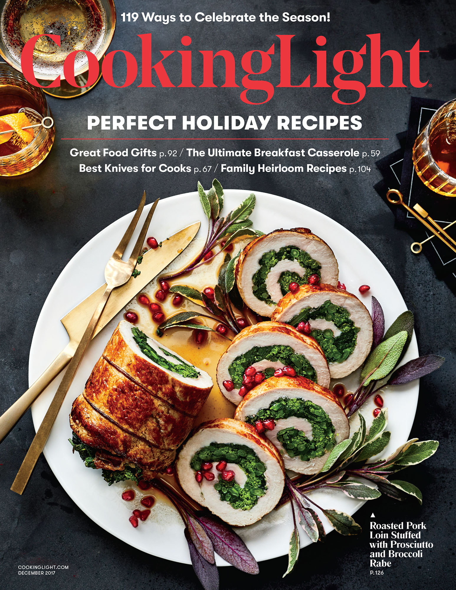 Cooking Light December 2017 Cover