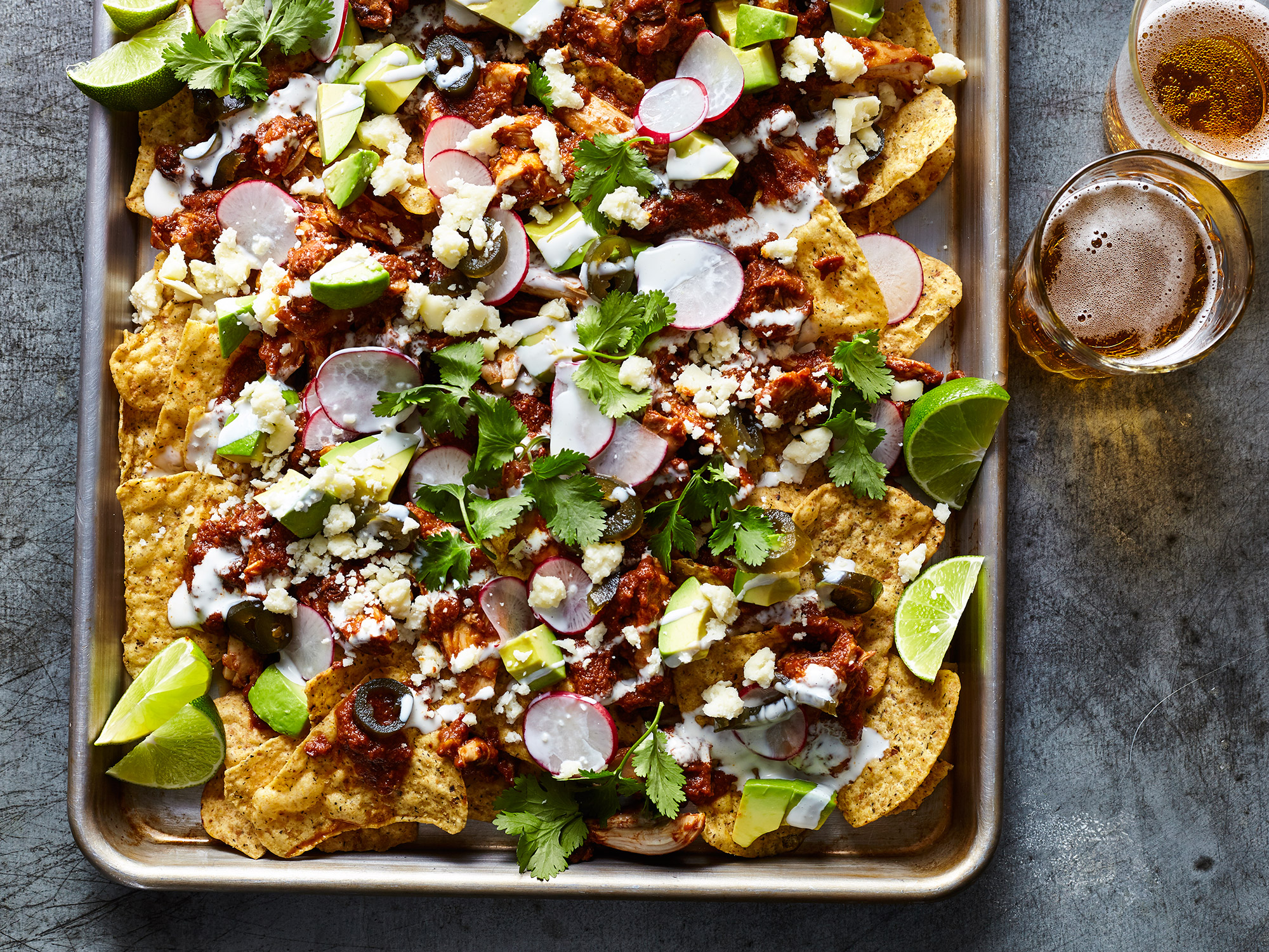 Shredded Chicken Mole Nachos