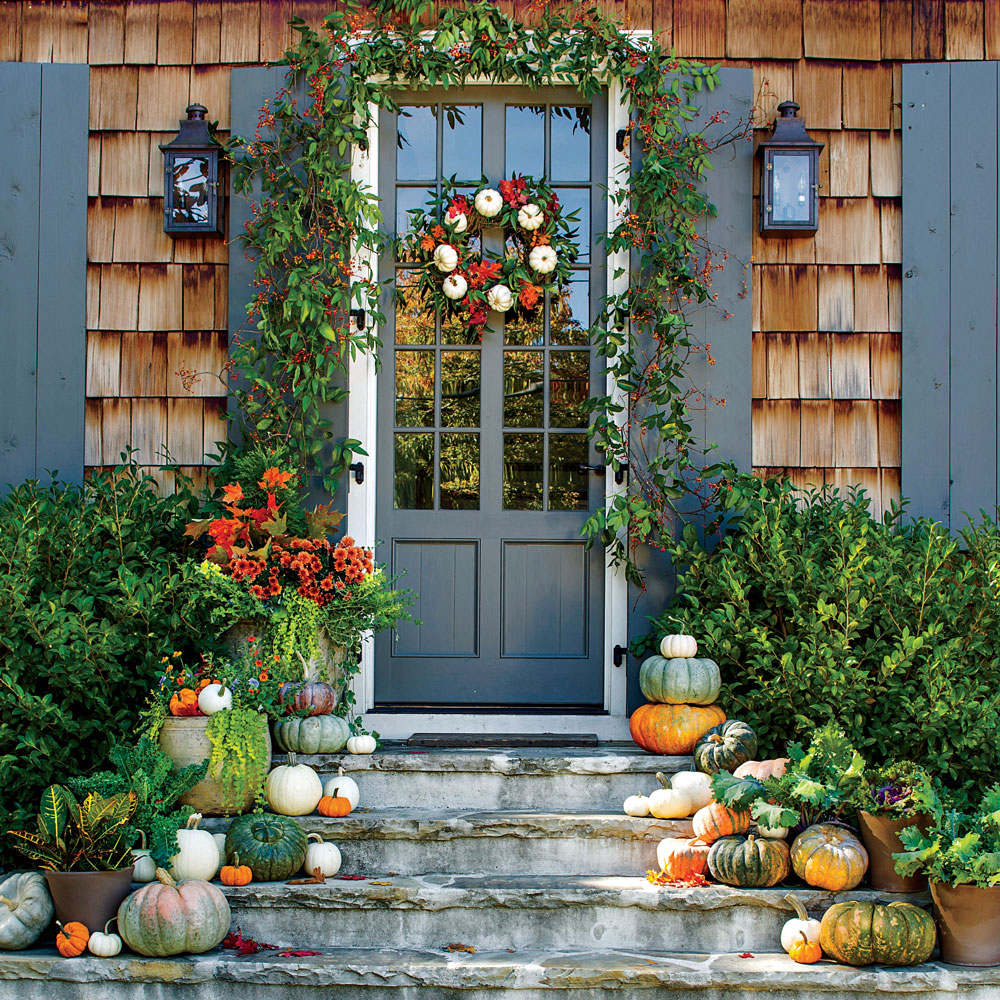 Fall Front Door: Pumpkin Ideas For Your Front Door That Aren't Jack O'Lanterns