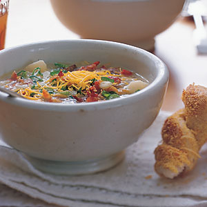 Healthy Baked Potato-and-Bacon Soup Recipe