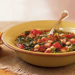 Healthy Sausage, Kale, and Bean Soup Recipe
