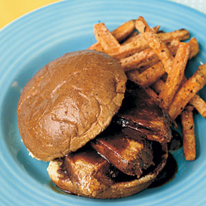 Grilled Pork Sliders with Honey BBQ Sauce
