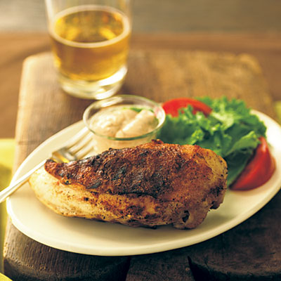 Grilled Chicken with White Barbecue Sauce - Grilled Chicken Recipes ...