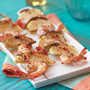 Grilled Lemon-Bay Shrimp Recipe