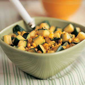 Zucchini with Corn and Cilantro Recipe
