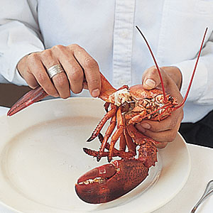 Extracting Lobster Meat: Twist Off Claws