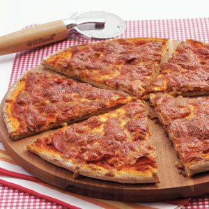 Whole-Wheat Pepperoni Pizza Recipe
