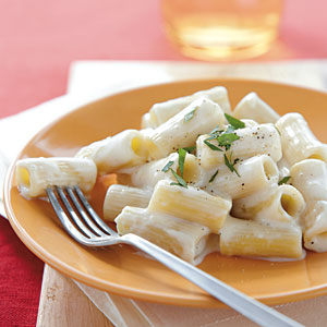Creamy Rigatoni with Gruyère and Brie Vegetarian Pasta and Grains Recipe