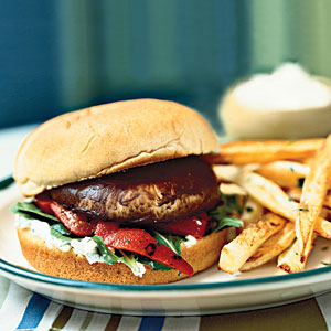 Portobello Cheeseburgers Vegetarian Recipe