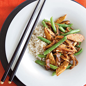 Seitan Stir-Fry with Black Bean Garlic Sauce Pasta and Grains Recipe