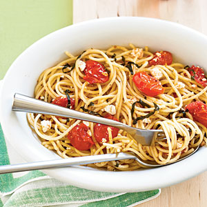 Tomato-Ricotta Spaghetti Vegetarian Pasta and Grains Recipe