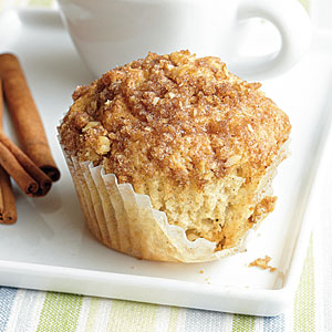 Cinnamon-Raisin Muffins with Streusel Topping