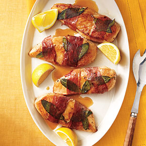 Lemony Chicken Saltimbocca