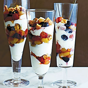 Slow-Roasted Grape and Yogurt Parfaits